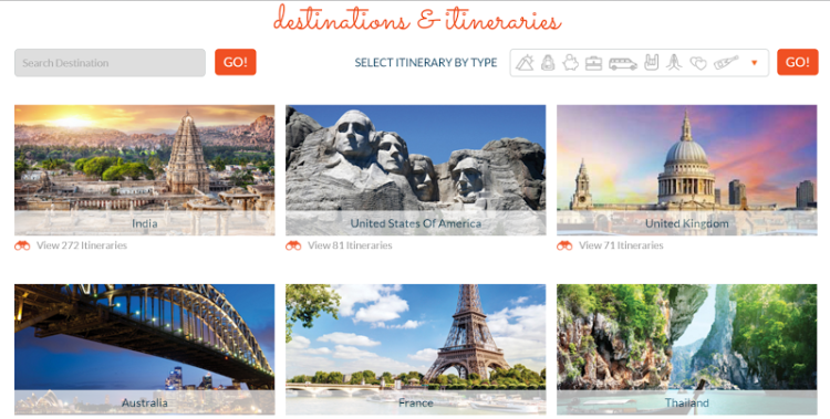 Hundreds of itineraries to help you plan a holiday