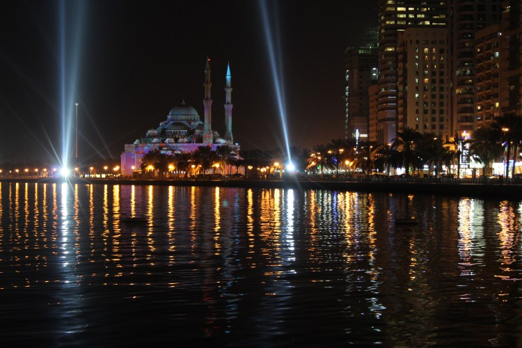 Khaled lagoon shimmering in the twilight