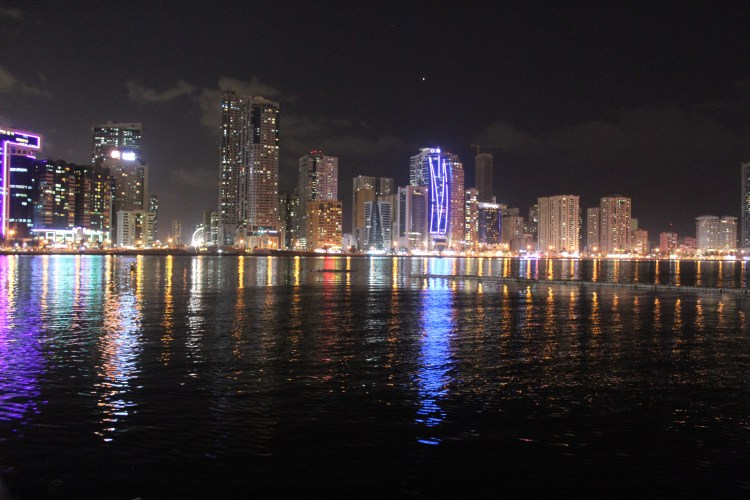 Al Majaz waterfront is silent before the show begins