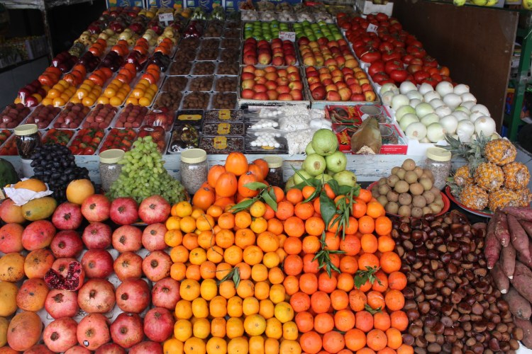 A fruit market in a village in Fujairah