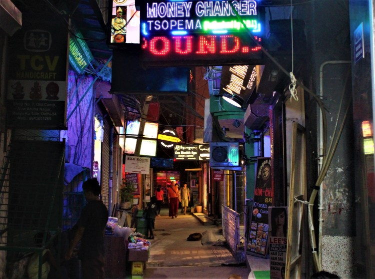 One of the narrow alleys of Majnu Ka Tila - Delhi's Tibetan ghetto.