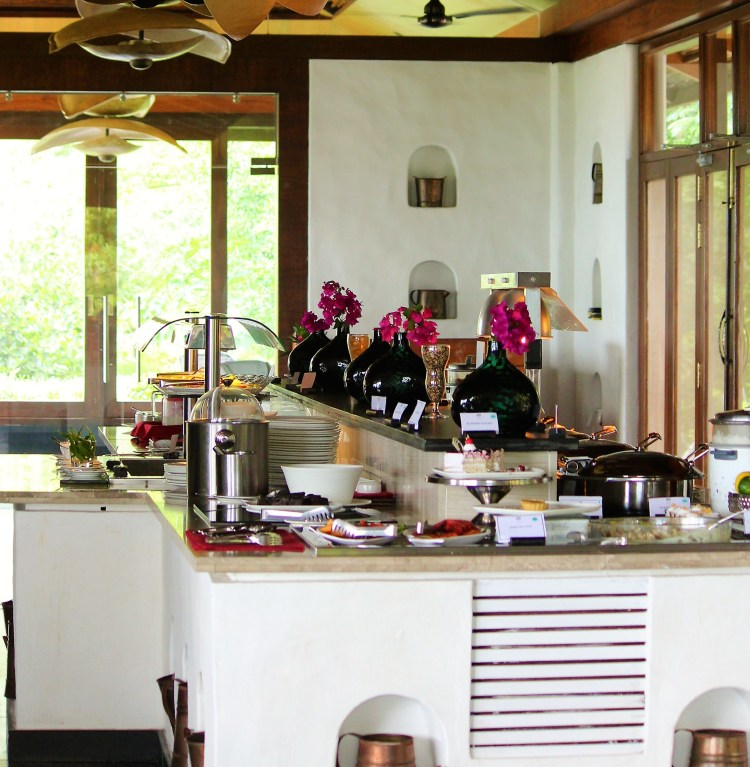 An array of freshly prepared delicacies are up for grabs at Sanctuary - Serai's pan-cuisine restaurant.