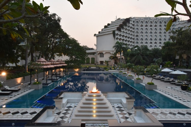 The palatial exterior of Taj Krishna seduces one's senses into submission. (Courtesy: Taj Krishna, Hyderabad)