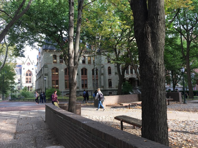 University campuses are still one of the best places to make friends for life. (The UPenn campus in Philly)