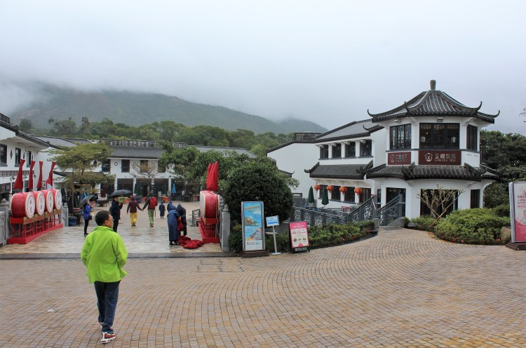 Starting point of the Ngong Ping Village walkway.
