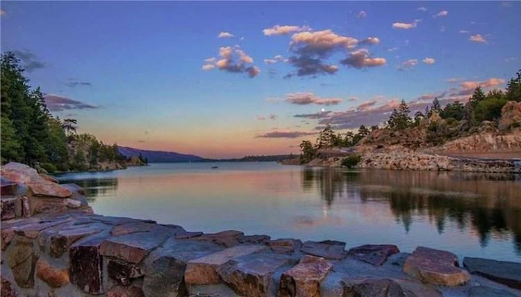 Sunset at the Big Bear Dam