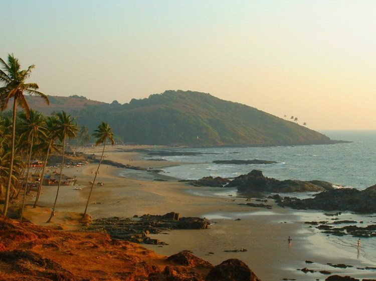 Vagator, one of many beaches that define the susegad life in Goa