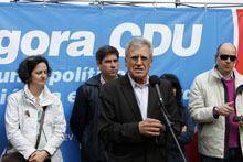 Jerónimo de Sousa diz que votar na CDU é         «salvar Portugal»