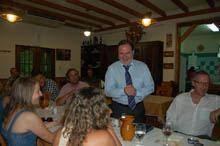 Santinho Pacheco promoveu jantar de         despedida com jornalistas