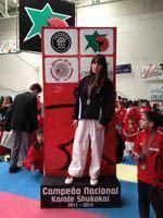 Ana Carolina Santos campeã nacional de         kumite
