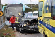 Mulher morreu numa colisão com autocarro na         zona da Sequeira
