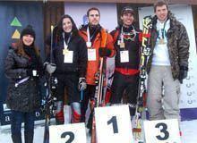 Primeiro torneio de snowboard e esqui