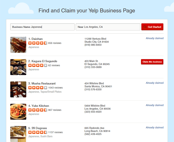 Photo Description: yelp-claim-results