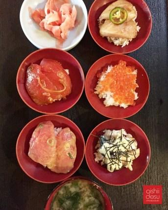 "Domo's creation ""wanko"" sushi"