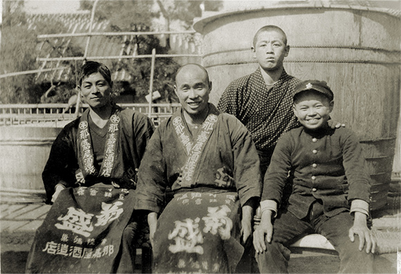 Photo Description: Hitachino brewery and their old pic from 1823 when they started as a sake brewer.