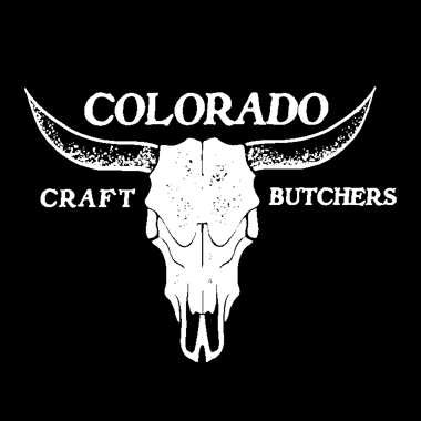 Photo Description: Colorado Craft Butchers logo with a skull and horns.