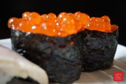 Ikura (salmon roe)... if you think the picture is blurry, it's due to the tears in your eyes blurring your vision from how tasty this looks