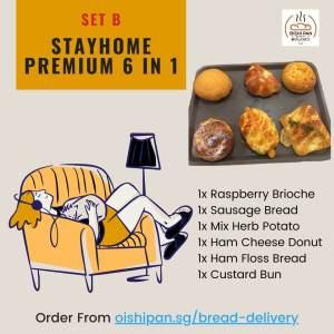 Set B - Stayhome Premium 6in1 Oishipan bakery