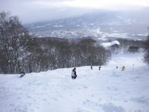 新雪30cmこぶコース
