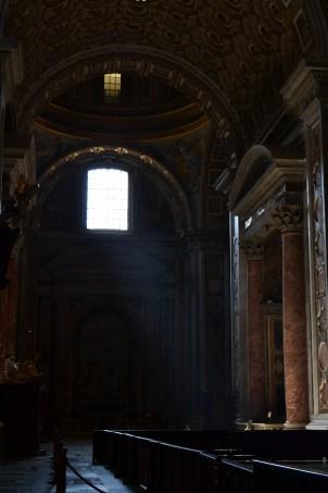 Interior da Basílica de São Pedro   Crédito: Verônica Batista