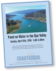 the ojai chautauqua panel on water in the ojai valley