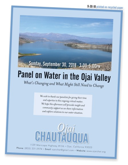 ojai chautauqua panel on water - September 30, 2018