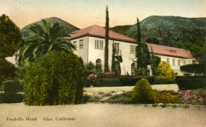 The Second Foothills Hotel. The hotel was, eventually, sold to Cal Prep to be used as a school for boys.