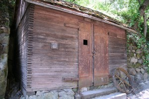 Constable Andy Van Curren's jail, now at Cold Springs Tavern near Santa Barbara. This was the first jail in the Ojai Valley.