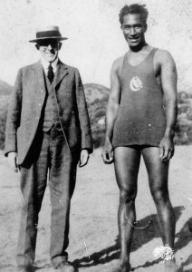 Sherman Day Thacher and Duke Paoa Kahanamoku at The Thacher School in 1922.