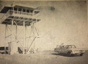 EVER ALERT -- This is the Nordhoff Lookout Tower from which watch is kept with observations recorded every fifteen minutes in the constant vigil against forest fire.