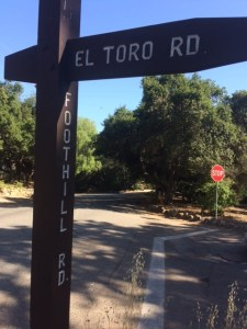 """El Toro Road runs through the Arbolada from Foothill Road to Del Norte Road. It was, presumably, named """"El Toro Road"""" because it once led to a slaughterhouse. """"El Toro"""" is Spanish meaning """"The Bull""""."""