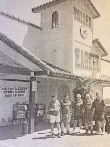 """Aaron Johnson (left), Carlos Martinez, Laura Leckie, Hal Moore and Tony Leckie are """"pumped up"""" for customers of Valley Market."""