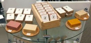 Lots of natural soaps, candles and lotions made locally. Great for gifts!