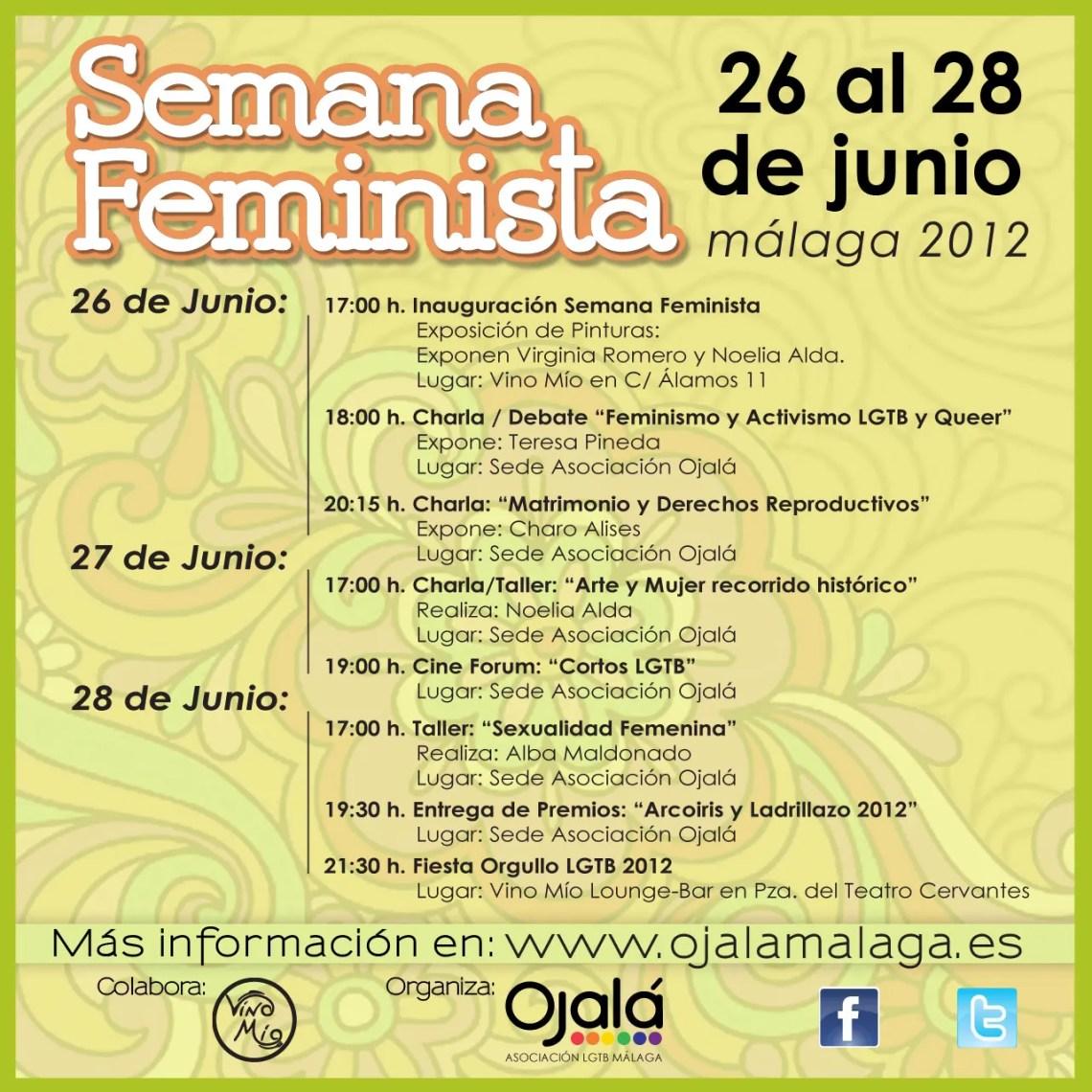 QUEDÁIS TODXS INVITADXS A NUESTRA SEMANA FEMINISTA!