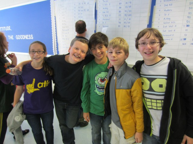 The 7th Grade Players at the Summit Certamen