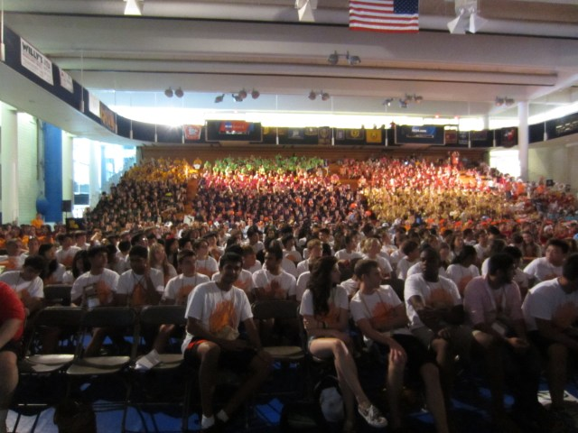 A view of the whole NJCL group from the stage.
