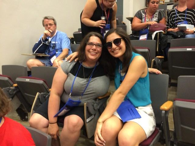 Melissa and her student SaraZ before NomComm