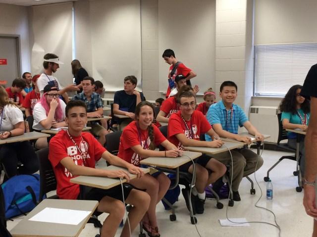 Intermediate team:  John Brady, Julia Dean, Owen Krantz, and Alan Zhang