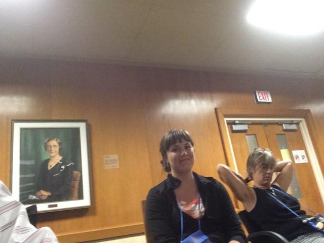 Columbus Academy teachers Elise Gursahaney and Christy Bening