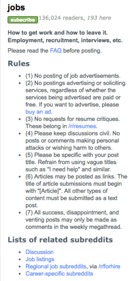 How to recruit on Reddit: Subreddit Rules