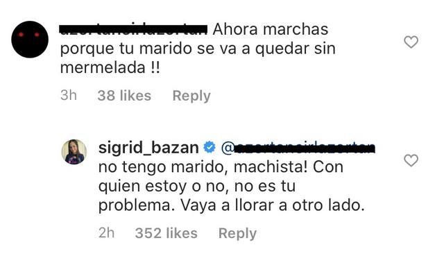 Foto: captura Instagram Sigrid Bazán
