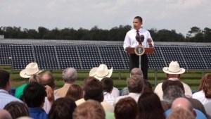Presidente de Estados Unidos, Barack Obama, en DeSoto Next Generation Solar Energy Center (Foto Wikimedia Commons)