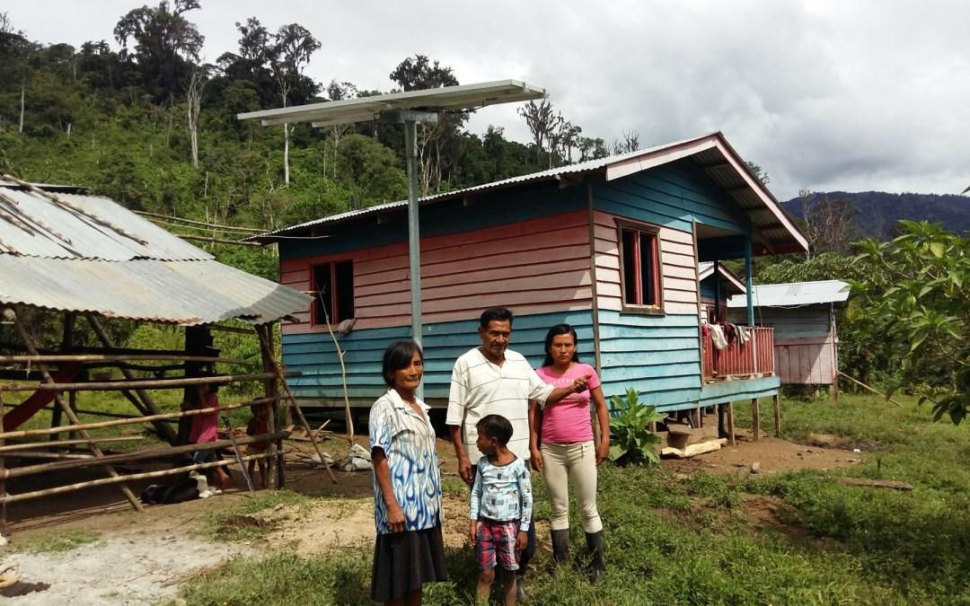 Comunidades indígenas sin acceso a electricidad contarán con 85 nuevos paneles solares
