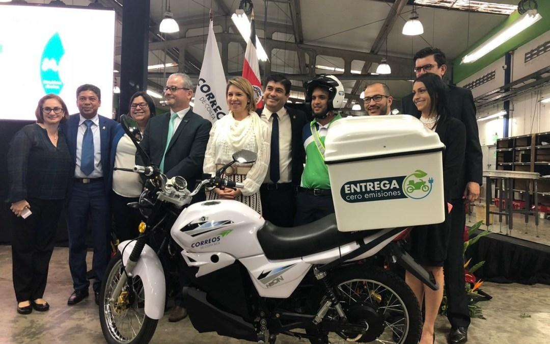 Correos de Costa Rica apunta a electrificar por completo flotilla de motos en 5 años