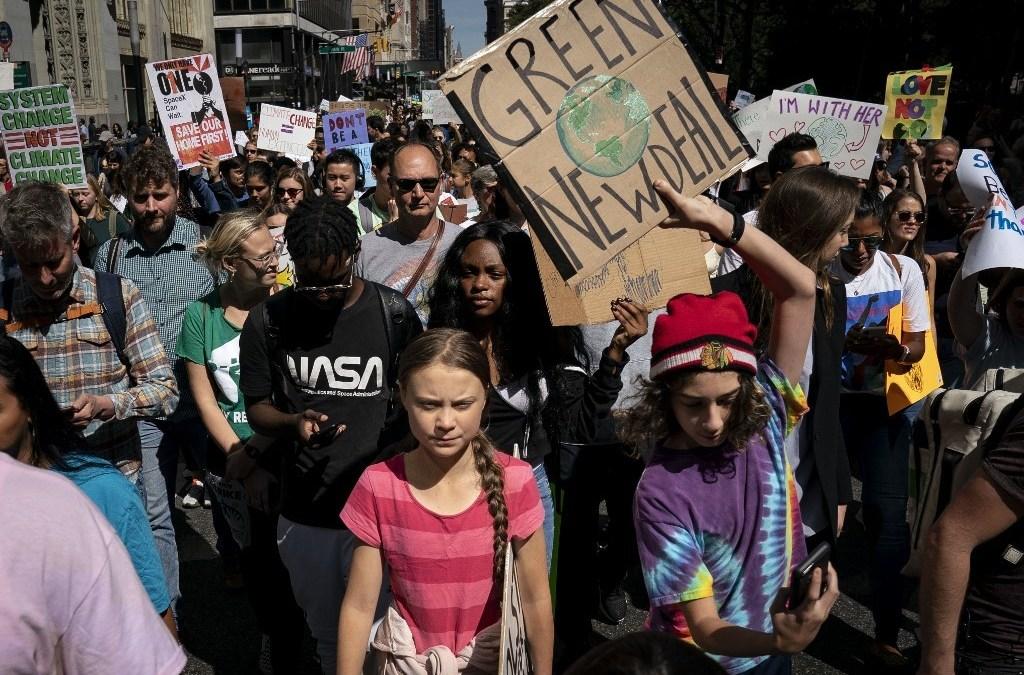 Crónica: Las calles de Nueva York conocieron a Greta Thunberg