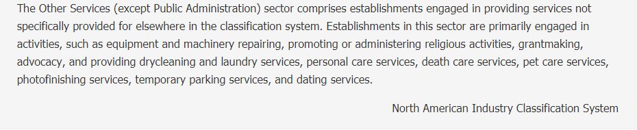 Other Services (except Public Administration)