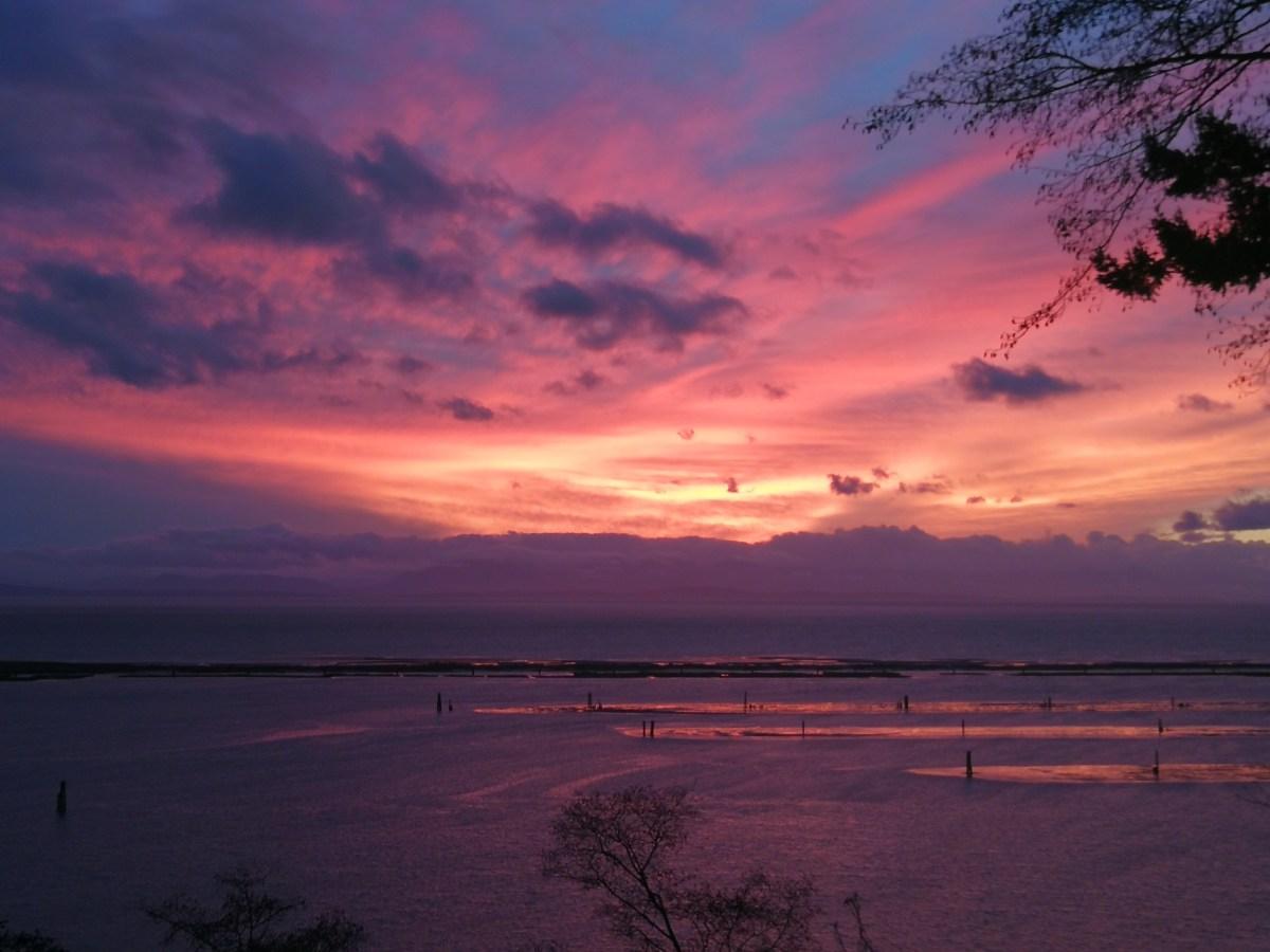 Der letzte Sonnenuntergang des Jahres