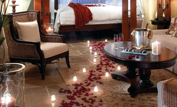 how to make a hotel room romantic