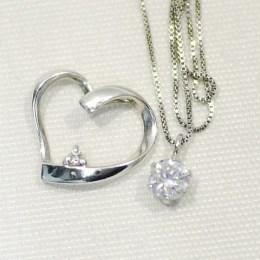 ダイヤモンド0.2ct付Ptネックレス