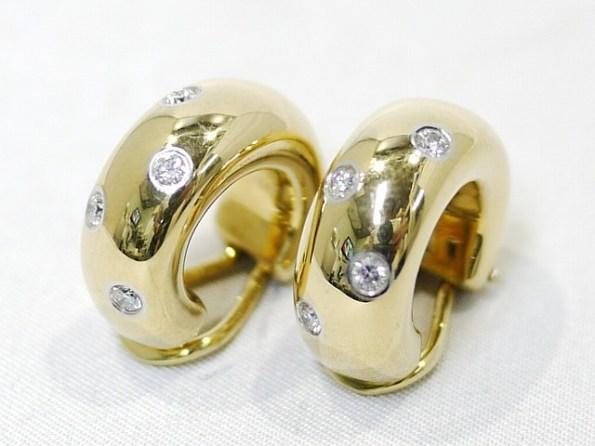 TIFFANY&Co.[ティファニー]K18YG・Pt950 ダイヤ付きイヤリング